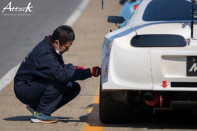 タイヤの空気圧調整